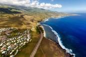 Saint-Leu, La Réunion vu du ciel