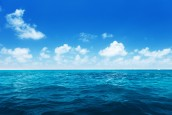 perfect sky and water of indian ocean