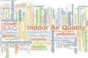 Indoor air quality IAQ background concept
